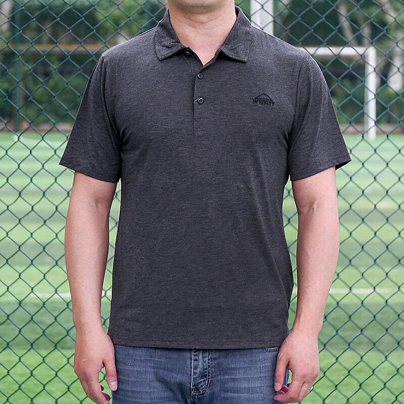 【砍价免费拿】MCKINLEY肯励男装  透气耐磨舒适翻领Polo衬衫T恤266944