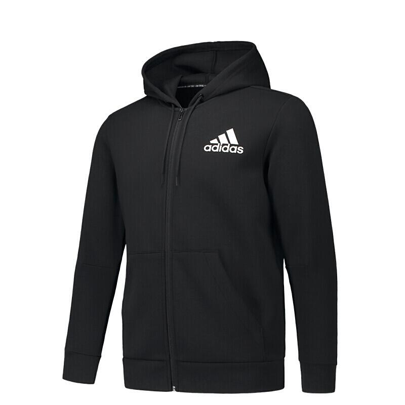 Adidas阿迪达斯男装外套 2019春季 针织休闲保暖运动服连帽夹克外套DT9912