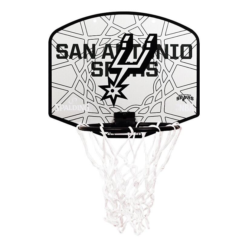 SPALDING斯伯丁 NBA勇士队徽迷你室内户外壁挂式篮筐运动小篮板 77-666Y MISC