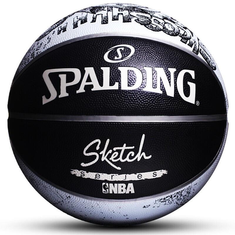 SPALDING斯伯丁篮球 2019春季 NBA队徽 ICON系列室外橡胶篮球83-534Y 7