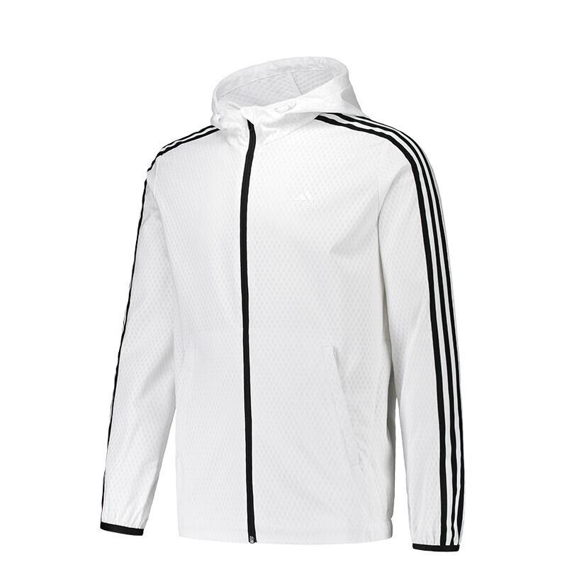 Adidas 阿迪达斯 男子 健身训练运动服舒适透气梭织夹克时尚连帽防风外套 DW4620