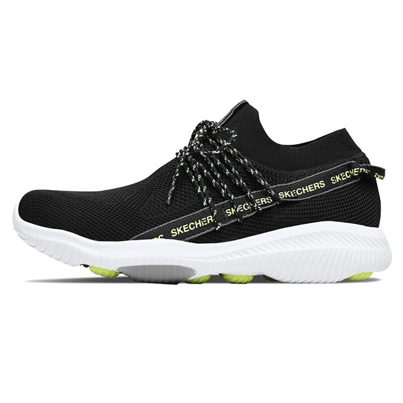 斯凯奇 Skechers 男鞋 舒适透气休闲鞋健身训练跑步鞋耐磨网面休闲鞋鞋子54672-BKYL