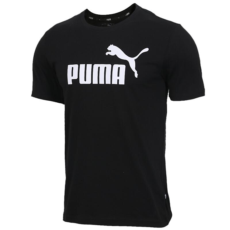彪马PUMA  男装 运动服大logo休闲服圆领上衣透气针织半袖衫  844642-01