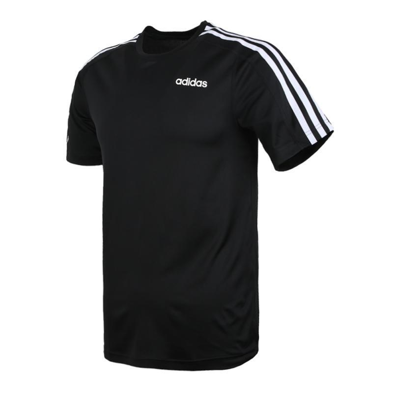 Adidas 阿迪达斯 男装 运动休闲时尚圆领透气短袖跑步针织舒适T恤 DT3043