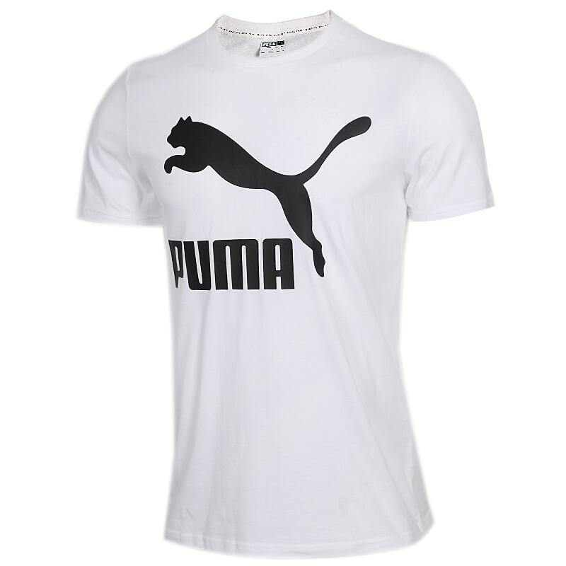 彪马 PUMA 男子 跑步舒适透气时尚运动衣休闲圆领半袖T恤上衣 579405-02