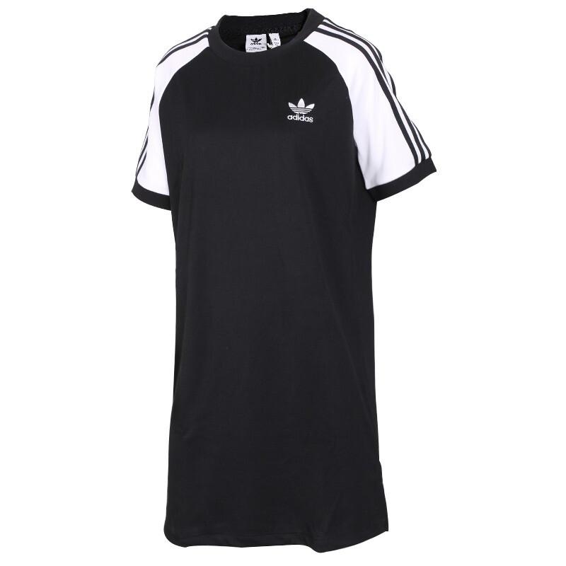 阿迪达斯三叶草 Adidas 女子 休闲运动短袖连衣裙 CE4961