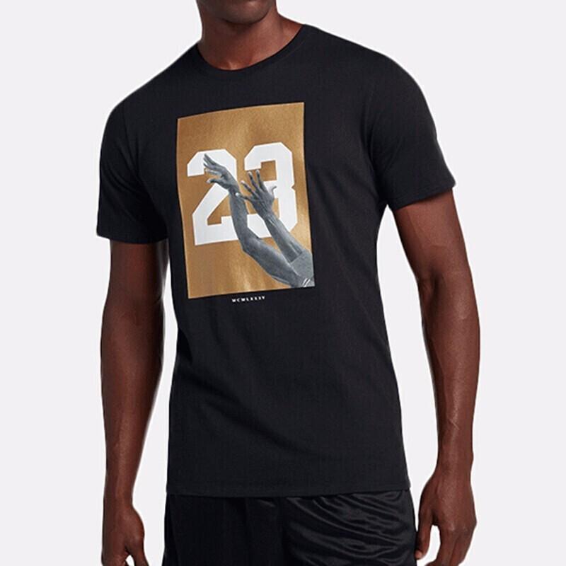 Nike耐克AIR JORDAN HO 4男子短袖T恤 AJ3995 AJ3995-010