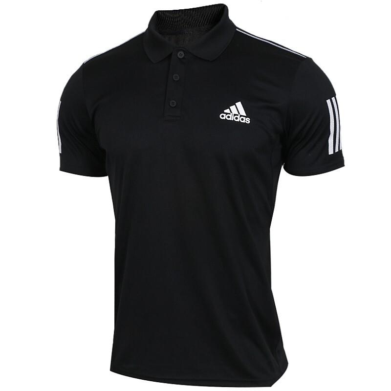 Adidas 阿迪达斯 CLUB 3STR POLO 男子POLO衫短袖 DU0848
