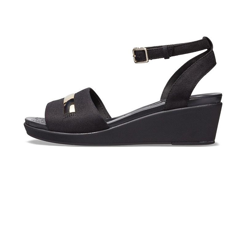 Crocs 卡骆驰 女子 蕾安金属贴片休闲凉鞋 205800 205800-98A