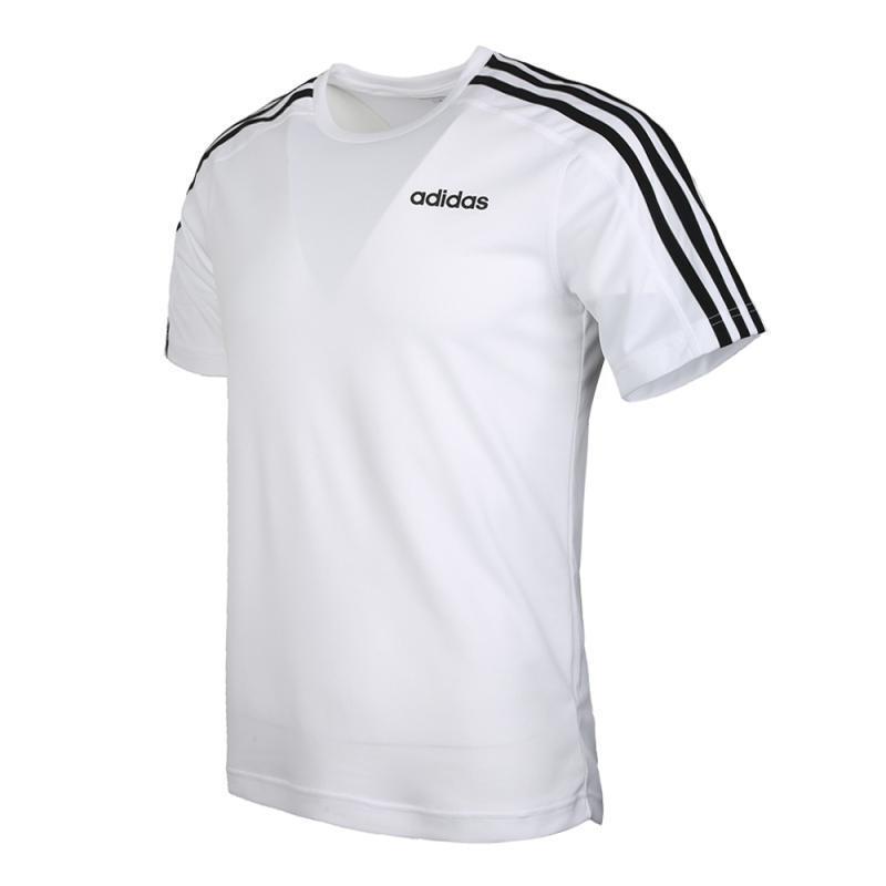 阿迪达斯 Adidas D2M Tee 3S 男子 圆领短T恤 DU1242