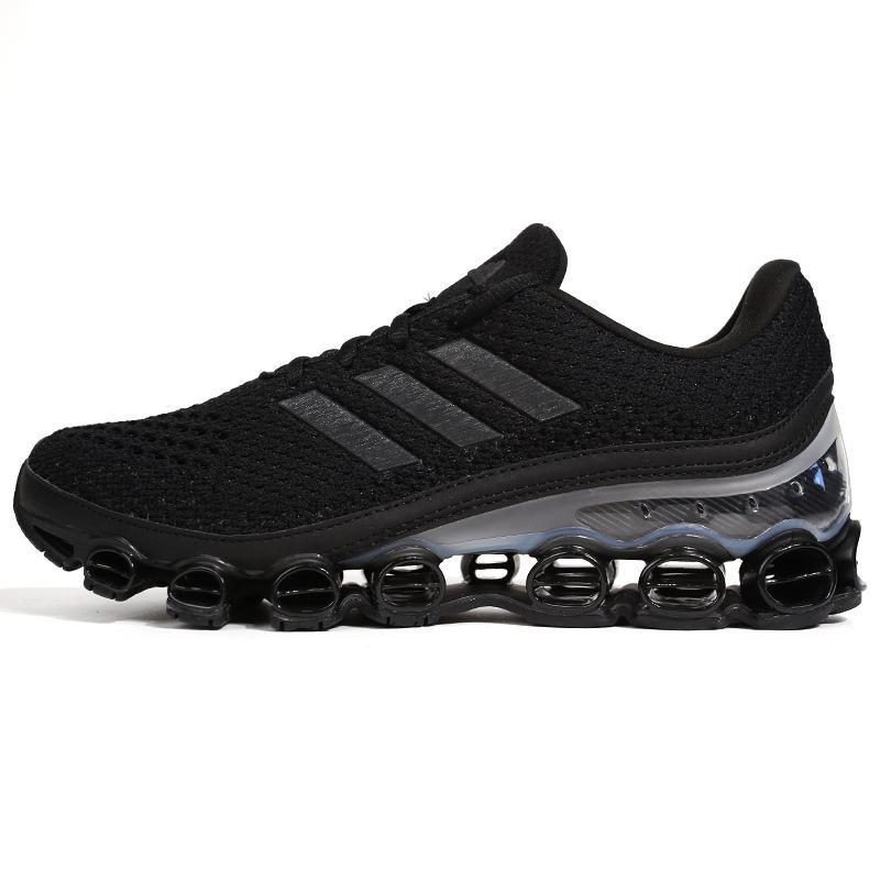 阿迪达斯 adidasmicrobounce 男女 低帮耐磨跑步鞋 EH0790