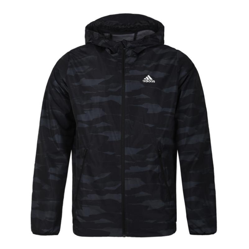 Adidas 阿迪达斯 男子 休闲透气跑步健身夹克外套上衣 DW4652