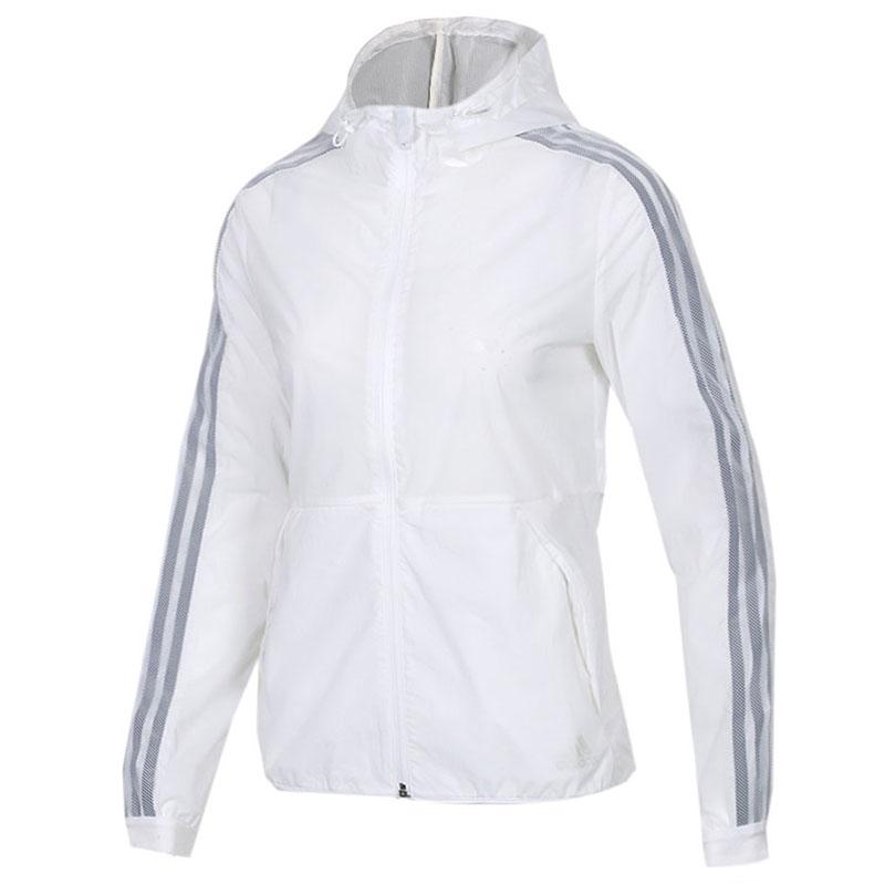 Adidas 阿迪达斯 WB 3S 女子 运动服休闲舒适梭织连帽皮肤衣夹克外套 DY8641