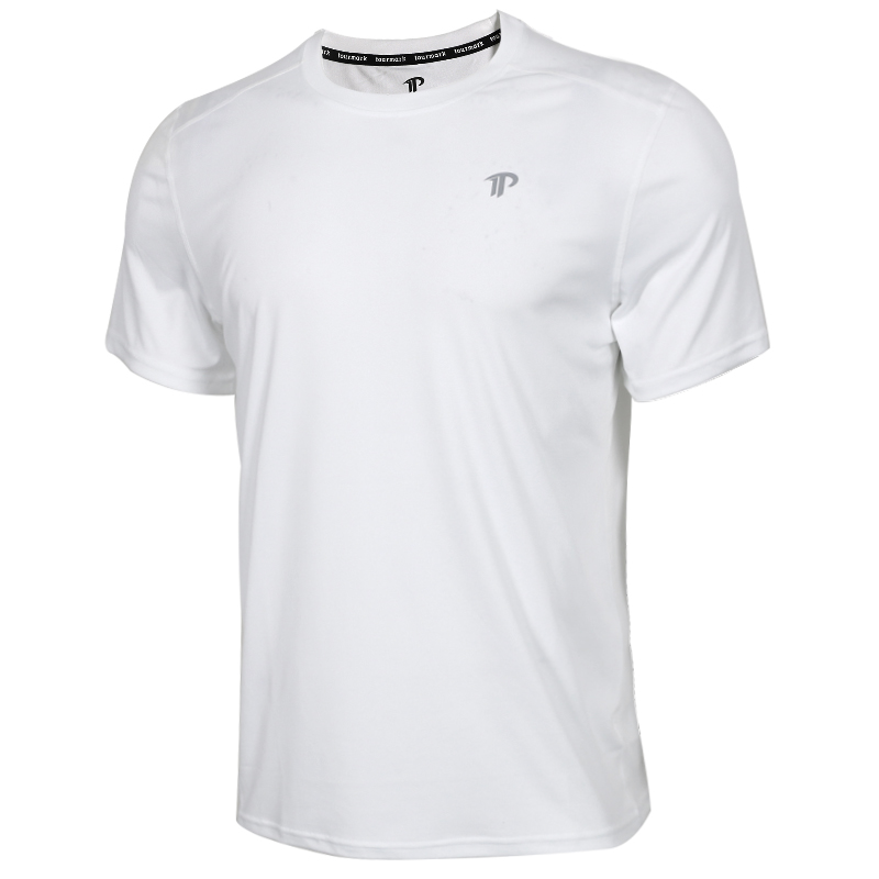TOURMARK 男子 运动服跑步训练健身快干透气舒适休闲圆领短袖T恤  T19201-02