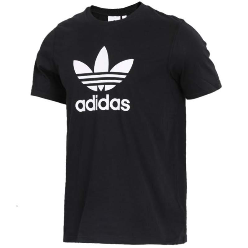 阿迪达斯三叶草Adidas  TREFOIL T-SHIRT 男子 棉质圆领透气短袖舒适简约时尚休闲跑步运动T恤 CW0709