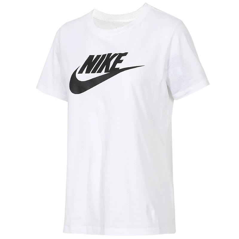 耐克 NIKE 女子 短袖T恤 休闲运动服纯棉透气舒适宽松圆领短袖T恤 BV6170-010 BV6170-100