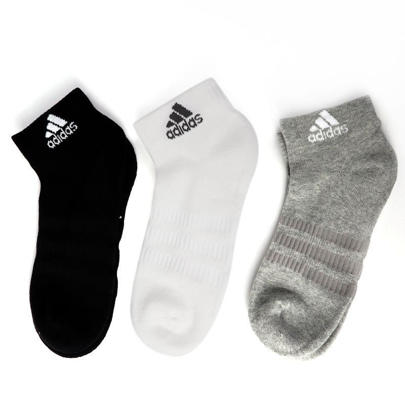 阿迪达斯 adidas 男女 三双装运动透气舒适中筒袜子 DZ9364