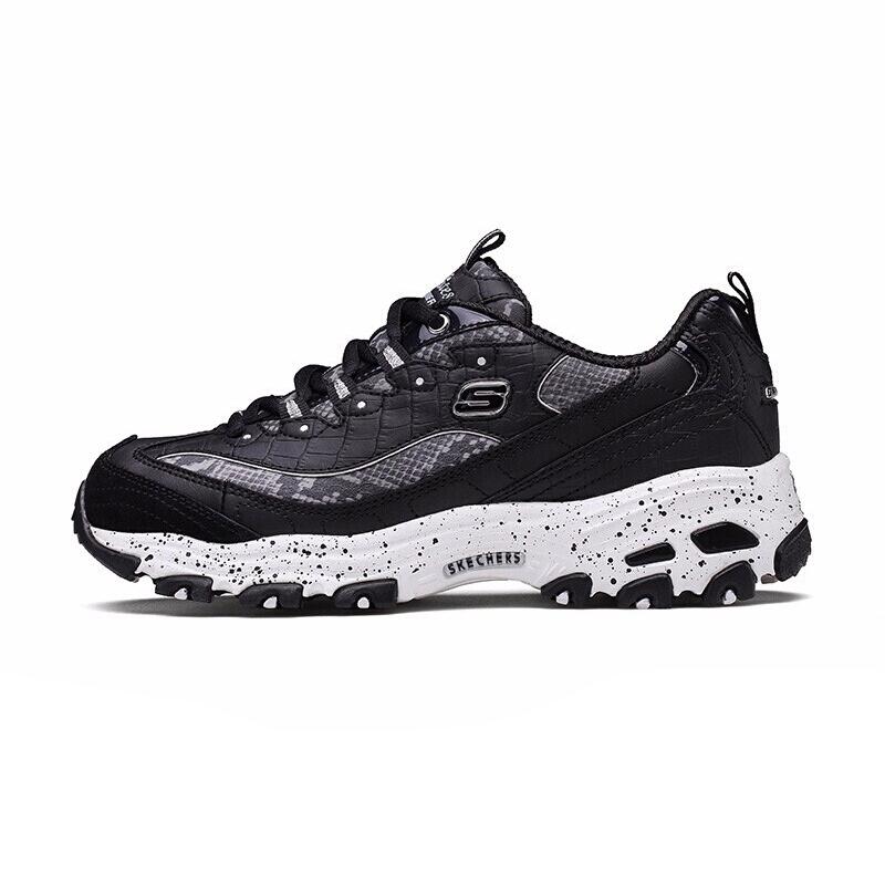 斯凯奇 Skechers 女子 运动鞋休闲鞋厚底熊猫鞋跑鞋 66666054-BKW