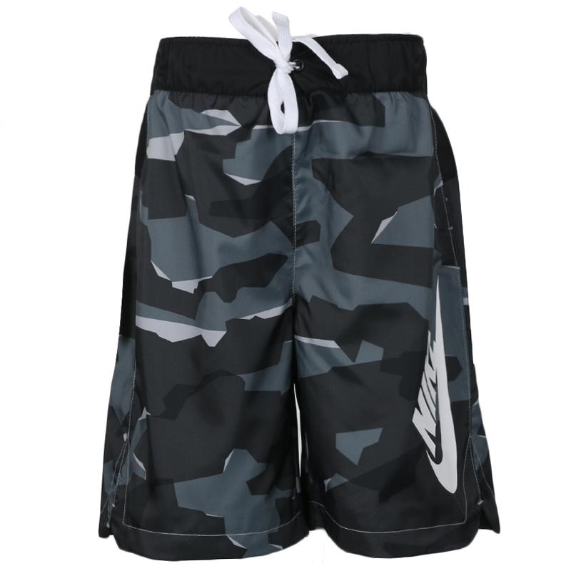耐克NIKE  男童 时尚迷彩速干透气舒适运动短裤五分裤 CI0050-010