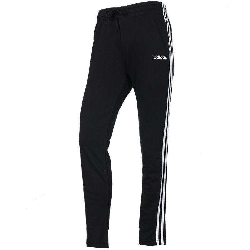 阿迪达斯 adidas 女子 直筒宽松三条纹跑步健身针织长裤 DP2373