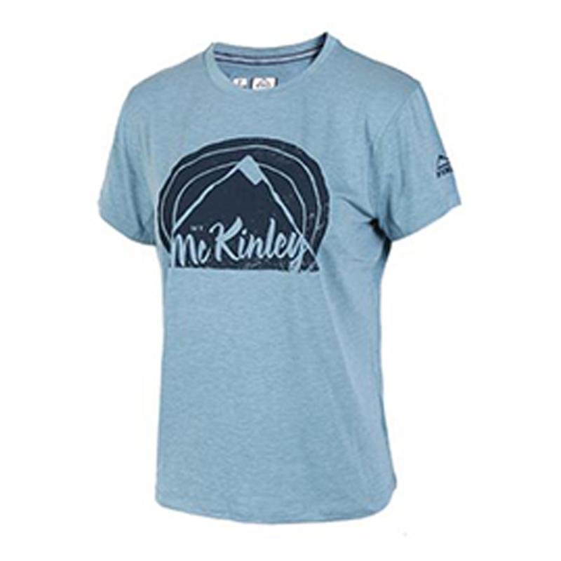 McKINLEY  女子  跑步运动透气休闲圆领耐磨短袖T恤 267093-903555