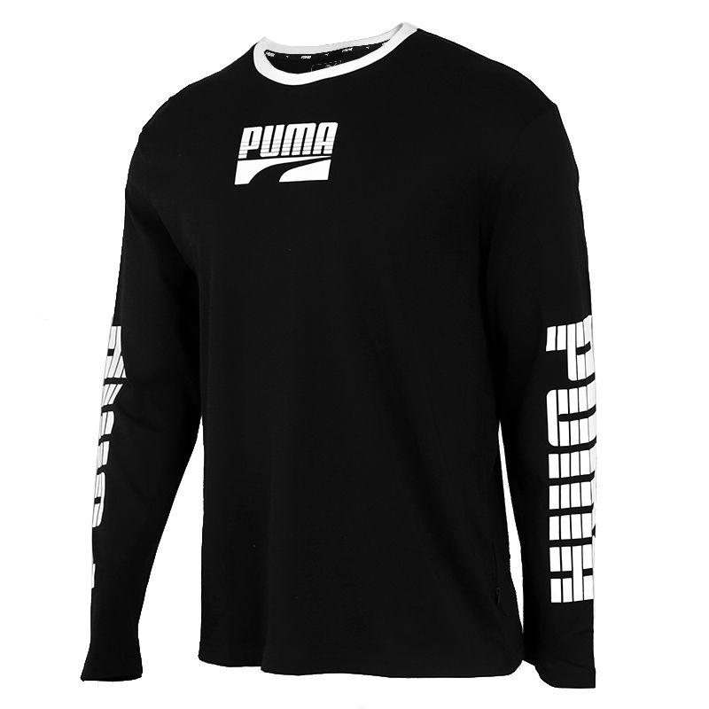 彪马 PUMA 男子 舒适休闲圆领T恤套衫长袖T恤 581659-01
