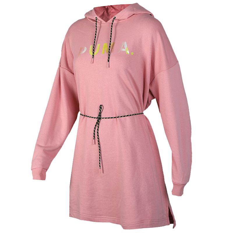 彪马 PUMA Chase Hooded Dress 女子 休闲时尚透气连帽套头衫针织连衣裙子 595954-14