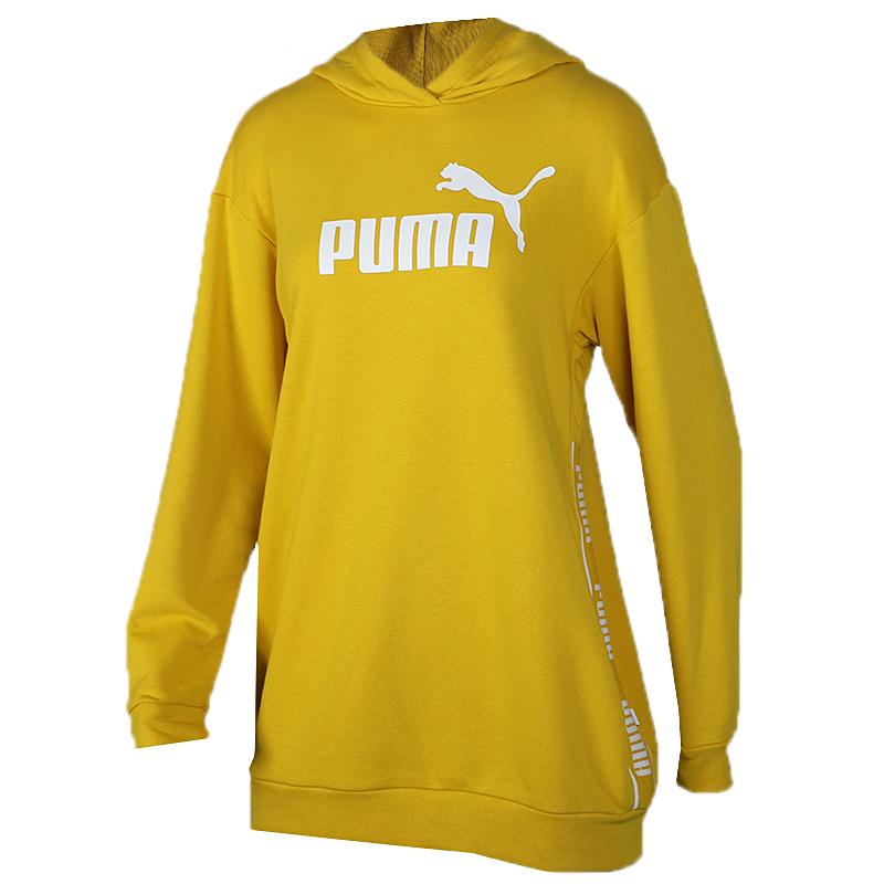 彪马 PUMA Amplified Dress TR 女子 针织透气运动服连帽休闲卫衣 581073-20