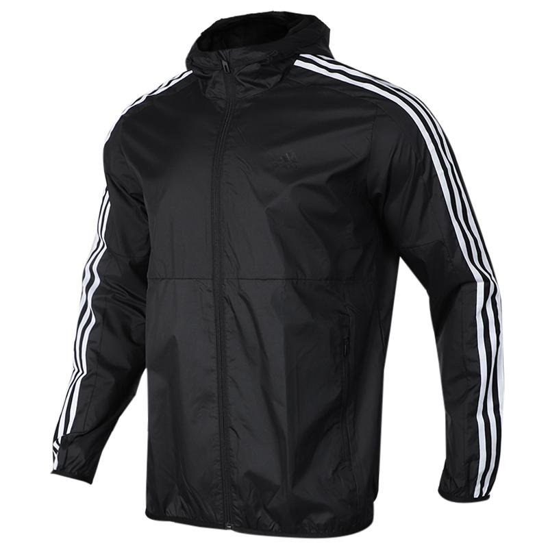 阿迪达斯 adidas AI WB CLASSIC 男子 休闲梭织防风衣连帽外套夹克 EH3822