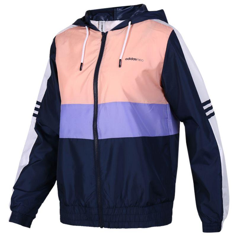 阿迪生活 Adidas NEO CS CB WB 2 女子 透气舒适防风休闲梭织夹克外套  FK9954
