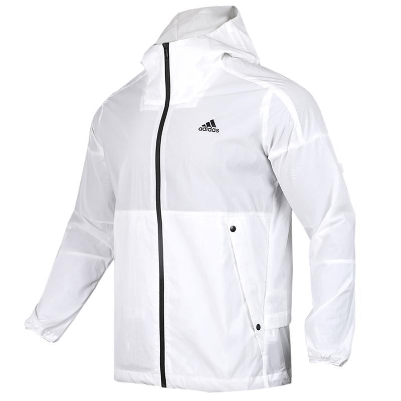 阿迪达斯 adidas O2 WB  WIND 男子 时尚跑步训练防风透气休闲连帽梭织夹克外套  EH3768
