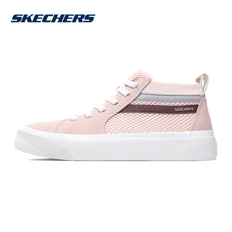 斯凯奇Skechers女鞋  透气时尚板鞋滑板鞋跑步鞋中帮休闲鞋 18070-LTPK