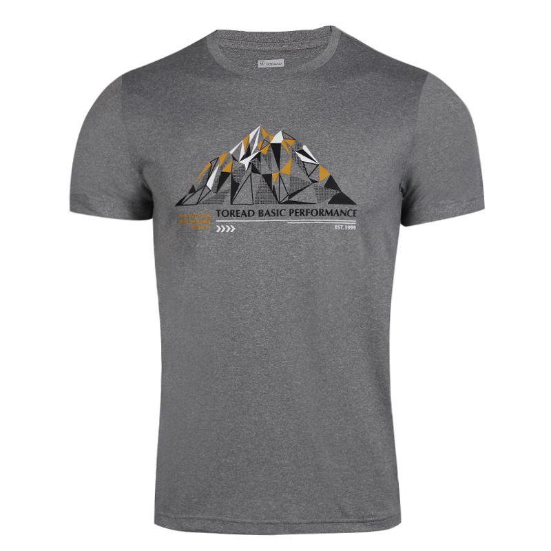 探路者 TOREAD 男子 时尚耐磨舒适男印花排汗圆领短T恤 TAJG81935-G08X
