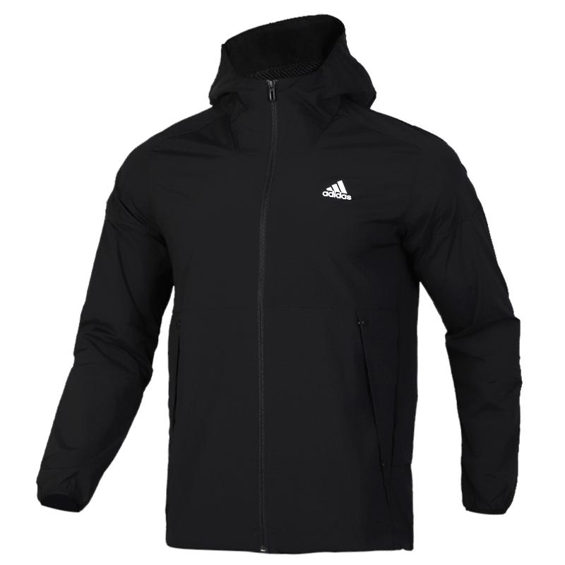 阿迪达斯 adidas O2 WB  WIND 男子 防风透气休闲连帽梭织夹克外套 EH3770