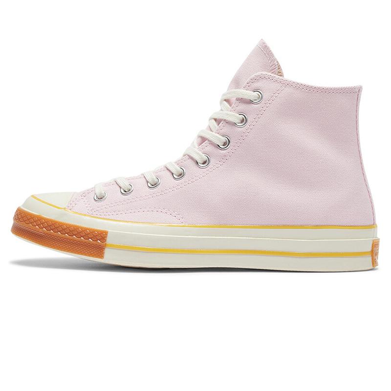 匡威 Converse  男子 1970S 三星标新款运动休闲高帮三星标粉色帆布鞋165719