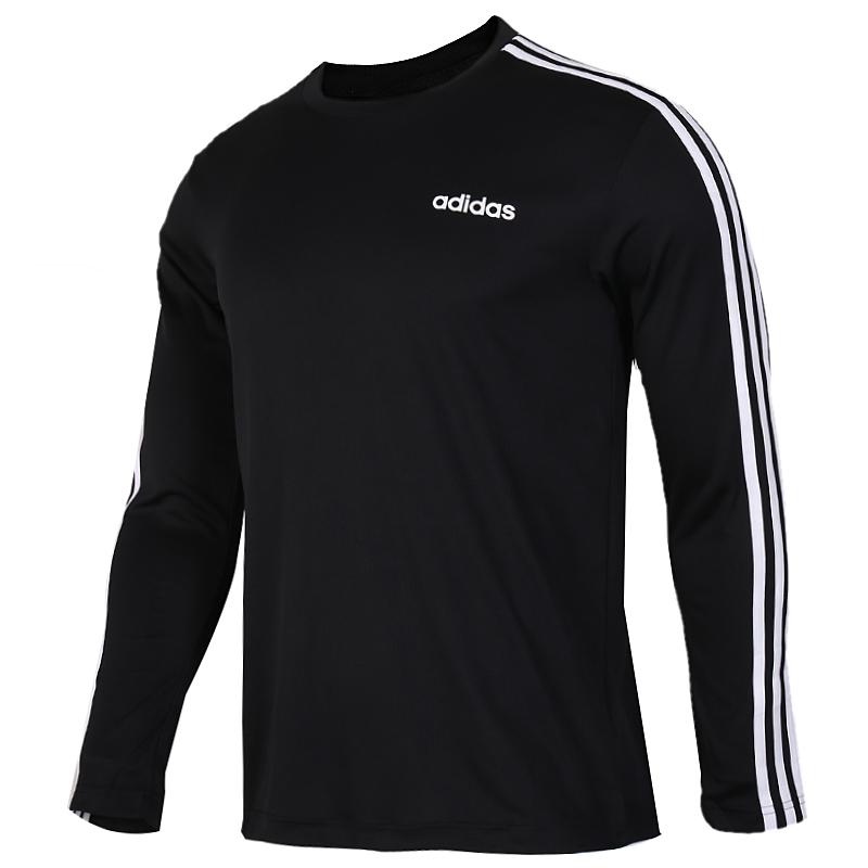 阿迪达斯 adidas D2M 3S LS TEE 男子 透气圆领长袖T恤套头衫  EI5647