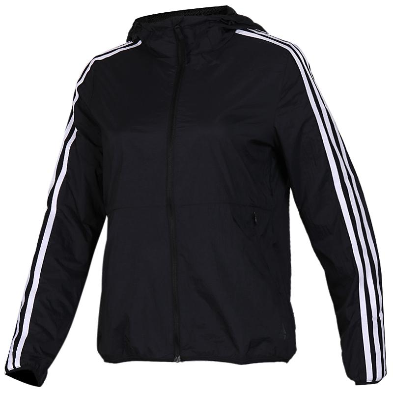 阿迪达斯 adidas WB 3S FEM 女子 三条纹透气时尚防风休闲外套梭织夹克 EH3911
