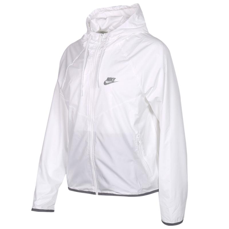耐克 NIKE 女子 透气舒适防风快干休闲外套梭织夹克 BV3940-100