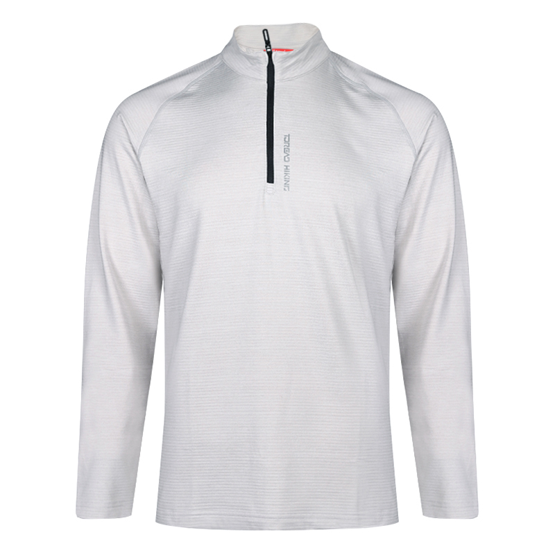 探路者 TOREAD 男子 户外舒适透气弹力休闲套头衫长袖T恤上衣 TAJH91240-F86X