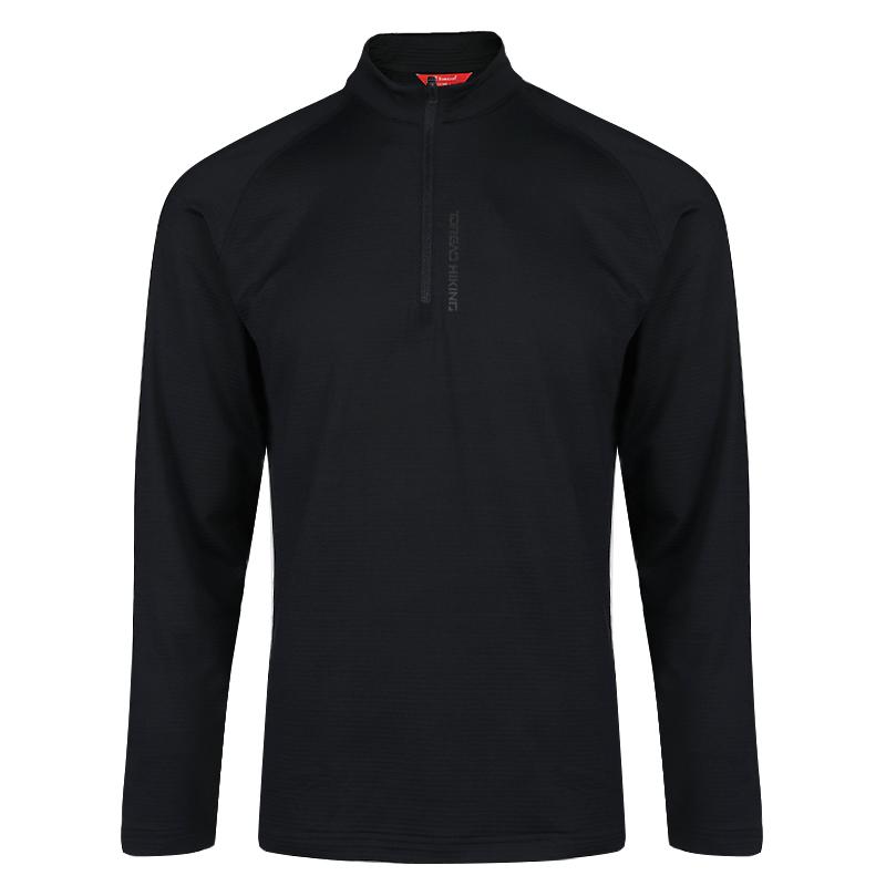 探路者 TOREAD 男子 户外舒适透气弹力休闲套头衫长袖T恤 TAJH91240-F87X