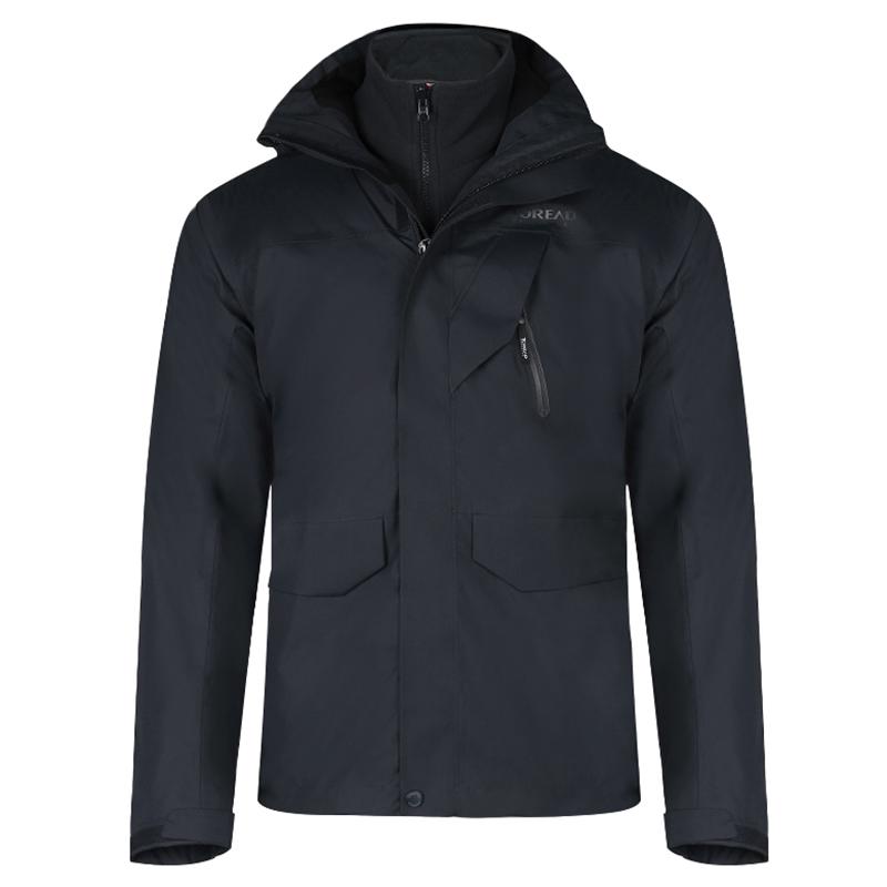 探路者 TOERAD  男子 防风耐磨舒适冲锋衣3层 TAWH91733-F87X