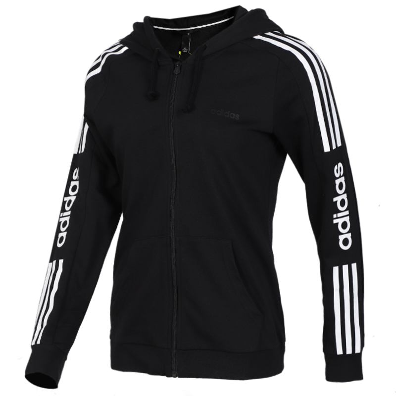 TZ  阿迪生活 Adidas  女子 舒适防风休闲连帽夹克外套 EI4716  +  针织运动裤 DP2380