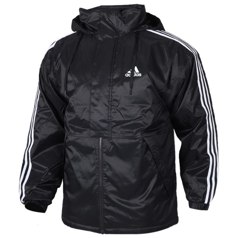 阿迪达斯 adidas INSULATED JKT 男子 保暖防风舒适三条纹休闲外套棉服  EH3998