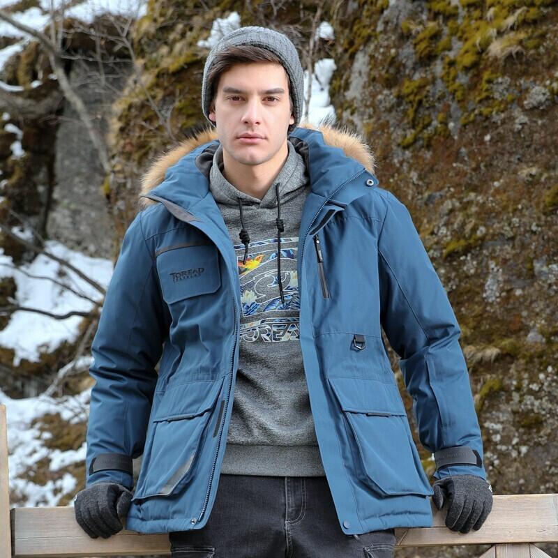 探路者 TOREAD 男子 户外运动服登山徒步旅行防风透气保暖羽绒服外套  TADH91725-C27X