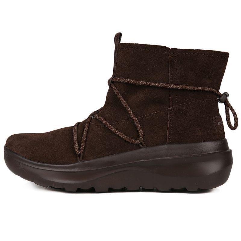 斯凯奇 Skechers ON-THE-GO  女子 时尚休闲短靴轻便绒里雪地靴 15539-CHOC