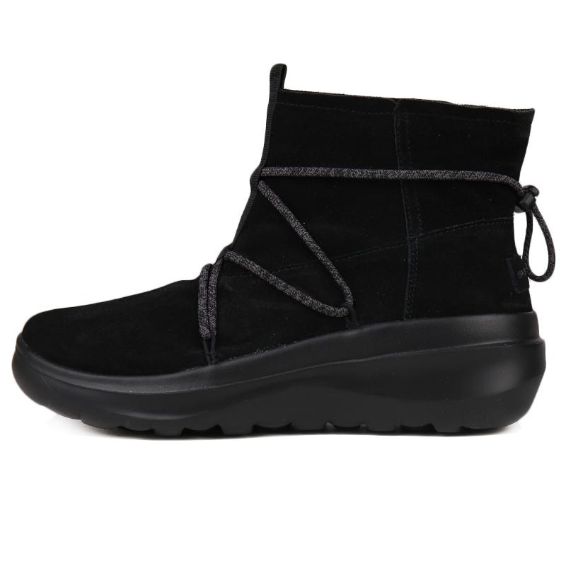 斯凯奇 Skechers ON-THE-GO  女子 时尚绒里短靴轻质透气缓震舒适一脚套休闲鞋 15539-BBK
