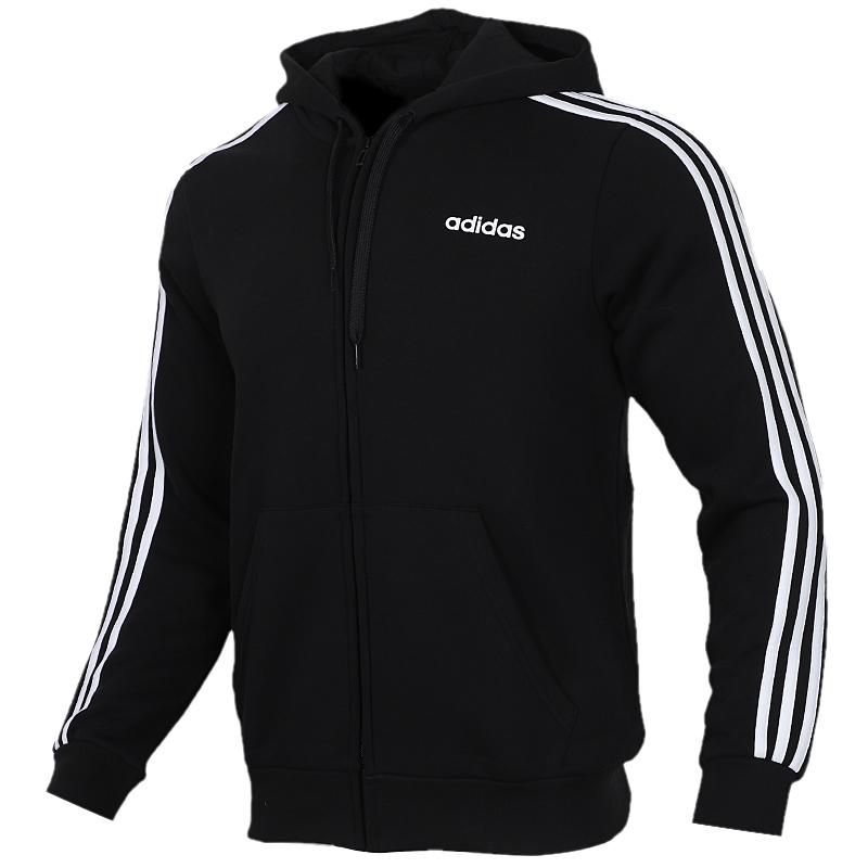 TZ  阿迪达斯 adidas 男子 休闲针织开衫夹克跑步训练运动服DQ3101  + 防风收口小脚长裤DQ3093