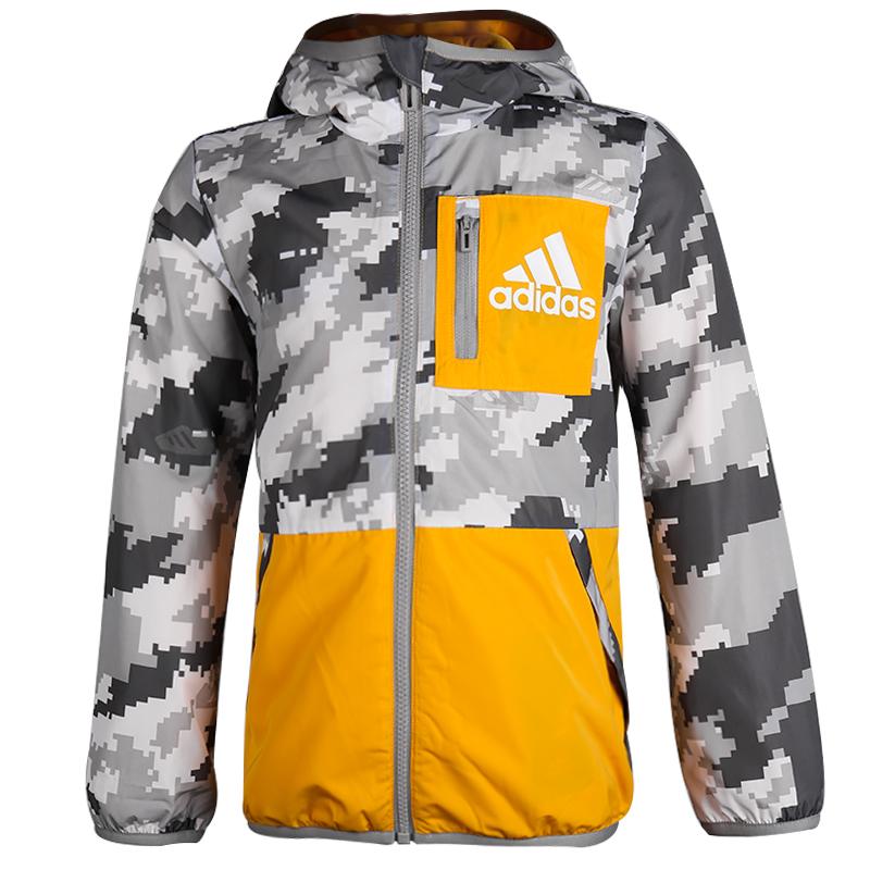 阿迪达斯 adidas LB FL REV JKT 儿童 训练梭织夹克外套  EH4055
