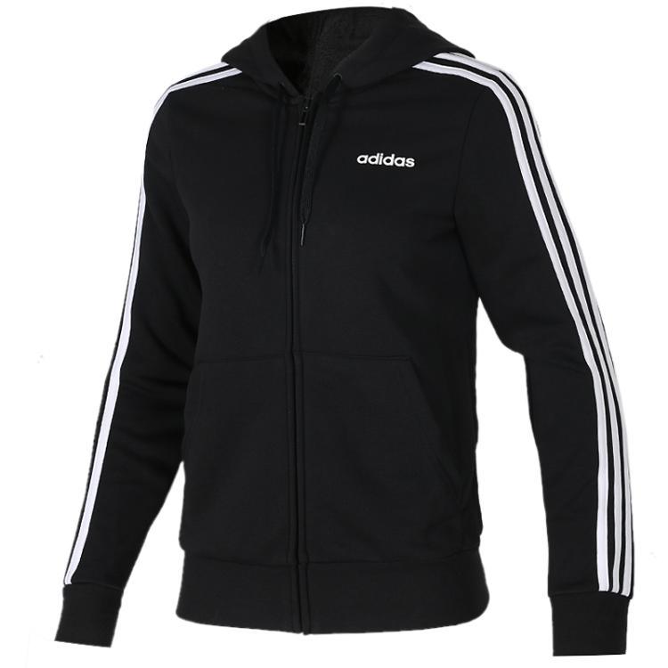 TZ  阿迪达斯 女子 时尚夹克卫衣套头衫连帽夹克DP2419  +  舒适透气休闲针织长裤 DP2384