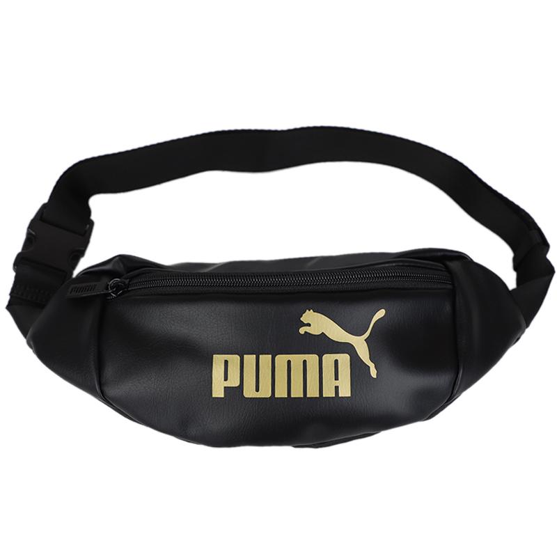 彪马 PUMA WMN Core Up Waistbag 男女 Originals 黑色白标腰包单肩包挎包胸包零钱包 076734-01